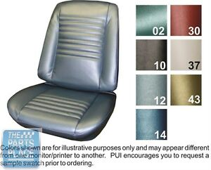 1967 Chevelle Black Front Buckets Seat Covers Pui