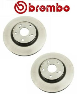 Pair Set Of 2 Front Coat Vented 296mm Disc Brake Rotors Brembo For Toyota Lexus