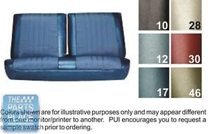 1968 Chevelle 68 Blue Front Bench Seat Covers Pui