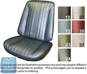 1969 Chevelle Black Front Buckets Seat Covers Pui