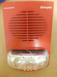 Simplex 4906 9356 Fire Alarm Strobe True Alert Non address Speaker strobe 15 Cd