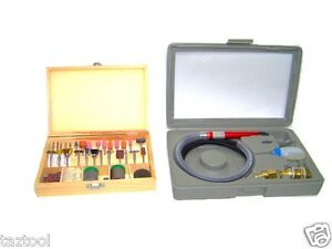 Air Micro Die Grinder With 100 Accessories Rotary Tool Cutting Polisher Kit