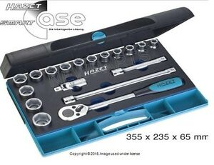 For Socket Set 1 2 Drive 18 Piece Set Hazet 93218