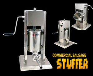 New Mtn Stainless Steel Commercial Sausage Stuffer 7l 20 Lbs Free 4 S s Tube