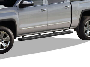 Iboard Running Boards 5 inch Black Fit 07 18 Chevy Silverado Gmc Sierra Crew Cab