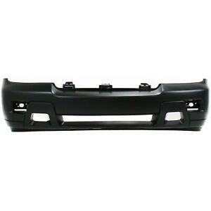 Front Bumper Cover For 2006 2009 Chevy Trailblazer W Fog Lamp Holes Primed