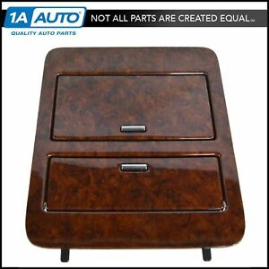 Oem Console Cup Holder Storage Gaston Walnut Woodgrain For Chevy Gmc Truck