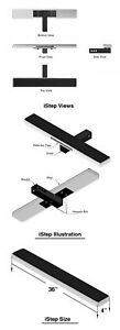Istep Universal 36 Black Aluminum Rear 2 Class 3 Hitch Mounting Hitch Step