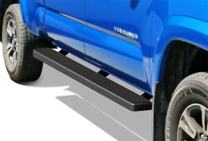 Iboard Running Boards 5in Black Fit 05 20 Toyota Tacoma Double Cab Crew Cab