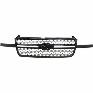 Grille 03 06 For Chevy Silverado 1500 2500 Hd Black W Honeycomb Fit 07 Classic