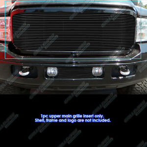 Fits 2005 2007 Ford 250 350 450 Excursion Black Grille Insert