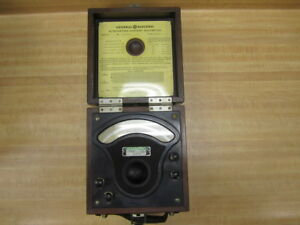 General Electric 2615914 Vintage Industrial A c Volt Meter Antique