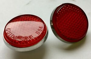 1956 Chevy 1951 1952 Car Tail Light Reflectors Red Bel Air Nomad Pair Free Ship