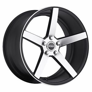 22 Inch Strada Perfetto Black Mach Wheel Rims Fit Explorer Impala Camaro