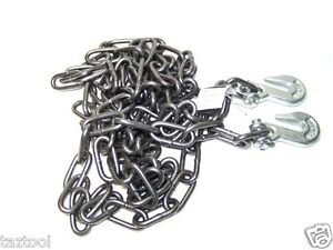 1 4 X 12ft H D Tow Chain With Hooks Towing Pulling Secure Truck Cargo Chains