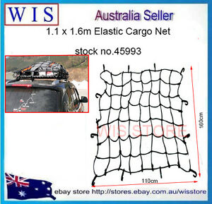 Hd Roof Rack Cargo Net For Car And Suv 110 X 116cm With 18 Nylon Hooks 45993