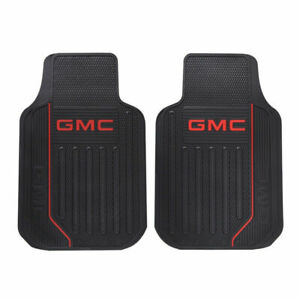 New 2pc Gmc Elite Car Truck Front All Weather Heavy Duty Rubber Floor Mats Set