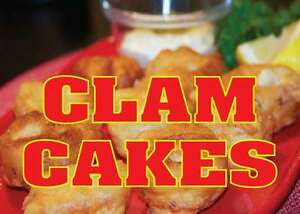 Clam Cakes 14 x10 Store Retail Food Counter wall Sign