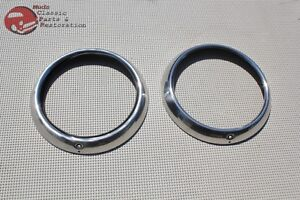 Headlight Headlamp Stainless Steel Bezels O Rings Clips Chevy Car Truck Pickup