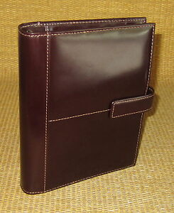 Compact 1 Rings new Brown Glass Leather Franklin Covey Open Planner binder