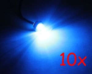 10 3 4 Blue Round Bullet Clearance Id Side Marker Truck Trailer Mini Led Lights