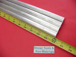 4 Pieces 5 8 Aluminum 6061 Round Rod 24 Long T6511 Solid Lathe Bar Stock