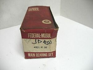 John Deere 202 219 4 Cyl Diesel Engine Fm Main Bearing Set 4921m 30