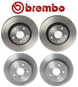 Set Of 4 Brembo Brake Rotors Front Rear For Lexus Es350 Toyota Camry Avalon