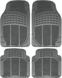 Car Floor Mats For Kia Soul 4pc Set All Weather Rubber Semi Custom Fit In Gray