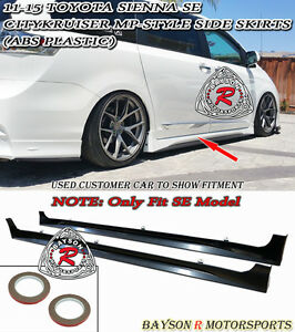 Citykruiser Mp Style Side Skirts Abs Fits 11 18 Toyota Sienna Se Model Only