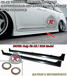 Citykruiser Mp Style Side Skirts abs Fits 11 17 Sienna won t Fit Se Model