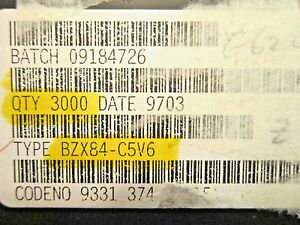 Bzx84c5v6neo Philips Smd Sot 23 Planar Zener Diode 3 000 pc Lot