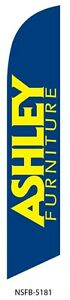 Ashley Furniture Blue Swooper Feather Banner Flag Sign