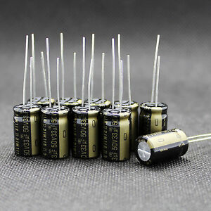 10 Pcs Japan Elna 33uf 50v High end Rfs Silmic Ii Hifi Audio Capacitor