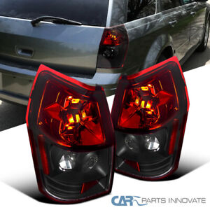 Dodge 05 08 Magnum Black Red Parking Tail Lights Reverse Brake Rear Lamps Pair