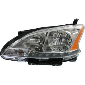 Headlight For 2013 2015 Nissan Sentra Driver Side W Bulb