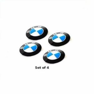 Set Of 4 Genuine For Bmw 524td 528e 530i 533i 535 630csi 65mm Wheel Cap Emblem