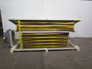 Southworth Lsd5 24 Hydraulic Scissor Lift W tilting Table 46 x112 5000 Lb Cap