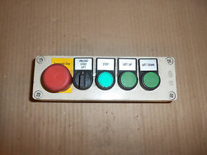 Square D Push Button Station E Stop 3 Position Selector Switch 3 Green
