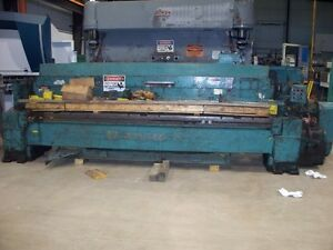 8952 12 x1 4 Wysong Mechanical Shear Fabrication Equipment Used 1225