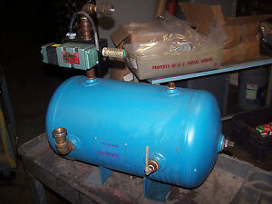 Brunner 9 8 Gallon Air Compressor Tank 200 Psi Part 0741 With Numatic Valve