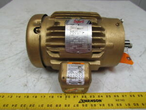 Baldor Vem3581t 1hp 3ph 200 230 460v 1750rpm 143tc Frame Electric Motor