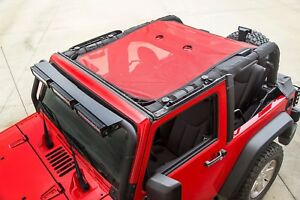 Rugged Ridge Eclipse Mesh Sun Shade Red 07 17 Jeep Wrangler Jk 2 Door X 13579 26
