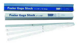 016 Thick 1 2 X 12 Feeler Or Thickness Gage Stock Strips 12 Pcs