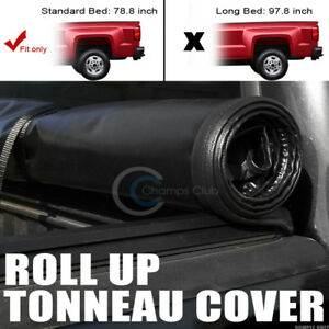Roll up Soft Tonneau Cover 14 17 18 Gmc Sierra 1500 2500 3500 Hd Denali 6 5 Bed