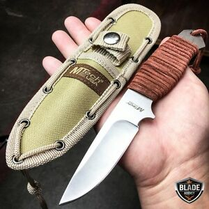 8quot; MTECH Military SURVIVAL Tactical Fixed Blade Hunting Camping Knife Sheath $14.95