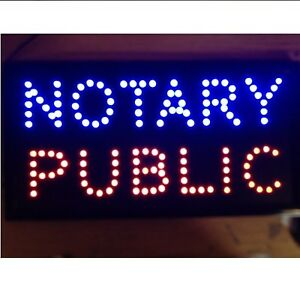 10 19 Animated Motion Led Notary Public Sign Onoff Switch Bright Open Light Neon