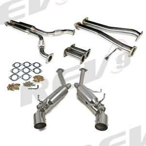 Rev9 Fits 350z Z33 g35 Coupe Full Stainless Steel Catback Exhaust System Set