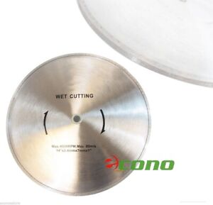 14 Inch Wet Diamond Cut Off Saw Blade Stone Concrete Tile Tool