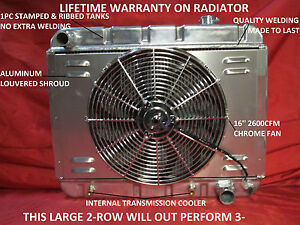 1962 1963 1964 1965 1966 1967 Chevy Ii Nova Aluminum Radiator With Shroud Fan